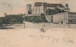 5340. Gelaufene Ansichtskarte vom Wawel im Krakow. Q2!