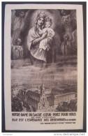 IMAGE PIEUSE Année 1911: NOTRE DAME DU SACRE COEUR P.P.N. 300j D´indulgence / HOLY CARD  SANTINO - Images Religieuses