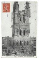 """CPA - YPRES -LE BEFFROI DES HALLES APRES LE BOMBARDEMENT -Flandre Occidentale, Belgique -Circulé 1915 -""""Geo"""" 172.-1915. - Autres"""
