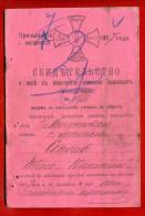 1907 RUSSIA RUSSLAND VINTAGE MILITARY ID W2282 - Historische Dokumente
