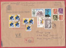 Espagne.Lettre Pour La France.1998.Avec étiquette De Douane.Customs. - 1991-00 Brieven