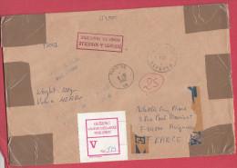 Turquie Lettre Pour La France.1992.Avec étiquette De Douane.Customs. - Brieven En Documenten