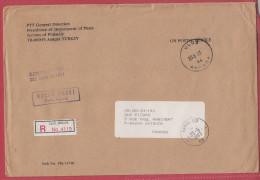 Turquie Lettre Pour La France.1993.Avec étiquette De Douane.Customs. - Brieven En Documenten