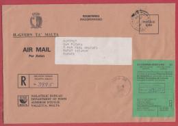 Malte Lettre Pour La France.1993.Avec étiquette De Douane.Customs. - Malta