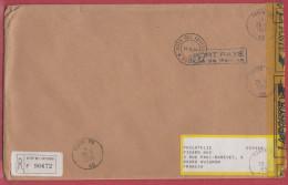 Vatican Lettre Pour La France.1999.Avec étiquette De Douane.Customs. - Brieven En Documenten