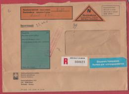 Suisse Lettre Pour La France.1980.Avec étiquette De Douane Pré Imprimé.Customs. - Brieven En Documenten