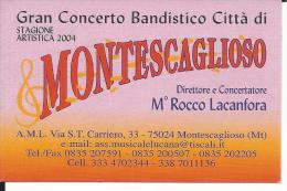 CAL723 - CALENDARIETTO 2004 - CONCERTO BANDISTICO MONTESCAGLIOSO (MT) - Calendarios