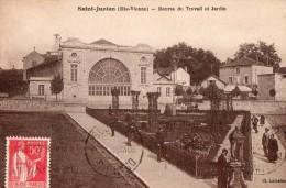 SAINT-JUNIEN - bourse du travail et jardin