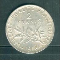 france 2 francs semeuse argent ann�e 1916 laura10409
