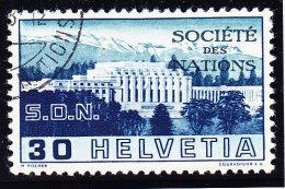 "Schweiz Dienst SBK#58 SDN Société Des Nations Abart ""Gebrochene Säule"" - Variétés"