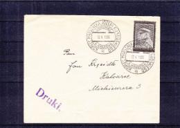 Pologne - Lettre De 1936 ° - Imprimé - Oblitération Spéciale Sowiniec - Cachet Rouge - Censure  ?? - 1919-1939 Republic