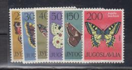 YOUGOSLAVIE    1964      Papillons     N°    966 / 971      COTE    10 € 00         ( 780 ) - Ungebraucht