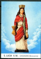 Santino - S. Lucia V.M. - Venerata In Sassinoro (BN) - Images Religieuses