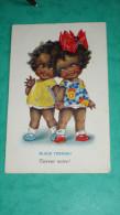 """Carte Représentant Deux Enfants  Black Terror   Selco""""Dolly-Serie"""" - Fantaisies"""