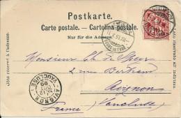 Le Brouillard  Au  Saléve  En 1899 (voir Timbre  Verso ) - GE Ginevra
