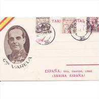 MLTTP0555C-LFTD8928tnom.Tarjeta Postal De España.General VARELA,Guerra Civil Española. - Nombres