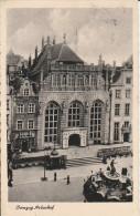 5349. Gelaufene Ansichtskarte vom Artushof im Danzig. Q1!