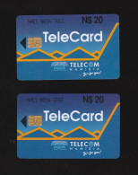 2x T�l�cartes Namibie / Telecard Namibia Telecom (Leopard)