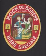 Etiquette De Bière Bock  -  De Bohême  -  Brasserie Brabant Despret à Hem (59) - Cerveza