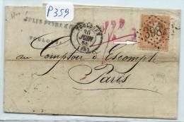 VARIETE N°23  SUR LETTRE DE TOULOUSE POUR PARIS - Marcophilie (Lettres)