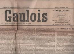 LE GAULOIS 25 12 1902 - GEORGES CLEMENTZ - TREGUIER - AFFAIRE HUMBERT - MESS OFFICIERS - MESSE DE MINUIT - Journaux - Quotidiens