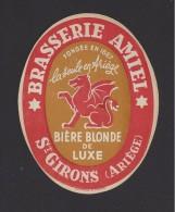 Etiquette De  Bière Blonde   -  Brasserie Amiel  à  Saint Girons  (09) - Cerveza