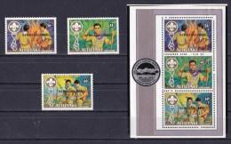 Aitutaki 1983 15th World Scout Jamboree Set Of 3 + Minisheet MNH - Aitutaki