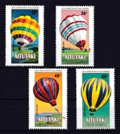 Aitutaki 1983 Manned Flight Bicentenary - Balloons Set Of 4 MNH - Aitutaki