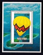 Aitutaki 1983 Manned Flight Bicentenary - Balloons Minisheet MNH - Aitutaki