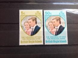 Britse Maagdeneilanden / British Virgin Islands - Postfris / MNH - Complete Serie Huwelijk Prinses Anne 1973 - Britse Maagdeneilanden