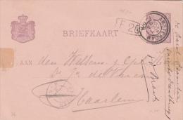 Briefkaart 13 Okt 1894 Met Dubbelring Proefstempel Amsterdam - Postal History