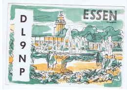 GERMANY - POSTCARD / QSL - GERMAN KURZWELLEN STATION - ESSEN - DL9NP - 1960 - Tarjetas QSL