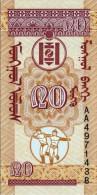MONGOLIA 20 MONGO BANKNOTE 1993 PICK NO.50 UNCIRCULATED UNC - Mongolia