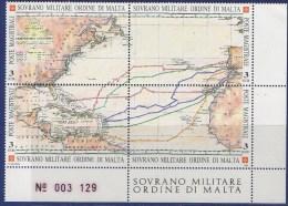 PIA - SMOM - 1992 : 500° Della Scoperta Dell' America   - (UN 410-13) - Malte (Ordre De)