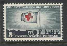 USA 1963 Scott # 1239. International Red Cross Centenary, MNH (**) - Nuevos