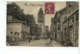 CPA  24    :  THIVIERS   Rue Theulier Avec Garage Et Stock Gaulois   1934    A    VOIR  !!! - Thiviers