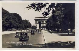 PARIS - Avenue Foch Et L'Arc De Triomphe ,   Real Photo - Transport Urbain En Surface