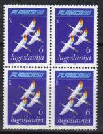 Yugoslavia, 50 Years Of Planica 1985.,block Of Four,MNH - 1945-1992 Socialist Federal Republic Of Yugoslavia