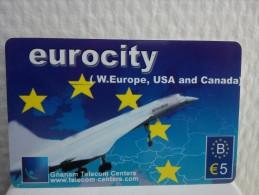 Prepaidcard Belgium Airplane Used Rare !