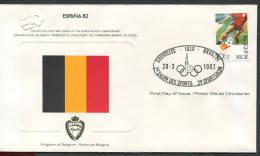 Belgien - Belgique - Belgie - Belgium - Fussball-Weltmeisterschaf t in Spanien 1982 - Ersttagsbrief - siehe scan