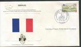 Frankreich - France - Francia - Frankrijk - Fussball-Weltmeisterschaf t in Spanien 1982 - Ersttagsbrief - siehe scan
