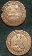 M_p> Cile Un Decimo 1892 Argento - Cile