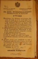 AFFICHE ITALIE - FONZASO 1846 - PROVINCIA DI BELLUNO + MARQUE POSTALES  BELLE AFFICHE EN TBE ***