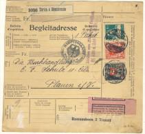 Schweiz Michel No. 164 , 195 auf Paketkarte Paketbegleitschein