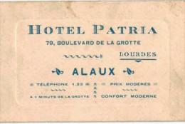 Vieux Papiers - Pub - Hotel Patria Lourdes - Reclame