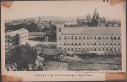 S0021-2 Postal - BOMBAY - St. Xavier's College - SIDE VIEW - P.G. Evraid, Editeur - India