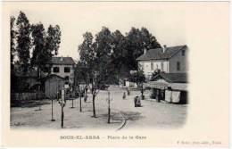 Cpa Tunisie - Souk El Arba - Place De La Gare - Tunisie