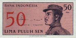 INDONESIA 50 SEN BANKNOTE 1964 PICK NO.94 UNCIRCULATED UNC - Indonesia