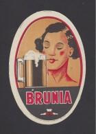 Etiquette De  Bière   -   Brunia - Bière