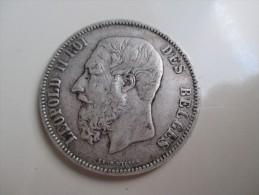 Belgium 5 Francs, 1869 - 09. 5 Francs